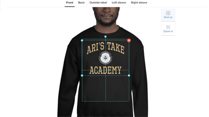 Ari's Take Academy print on-demand merch comparison