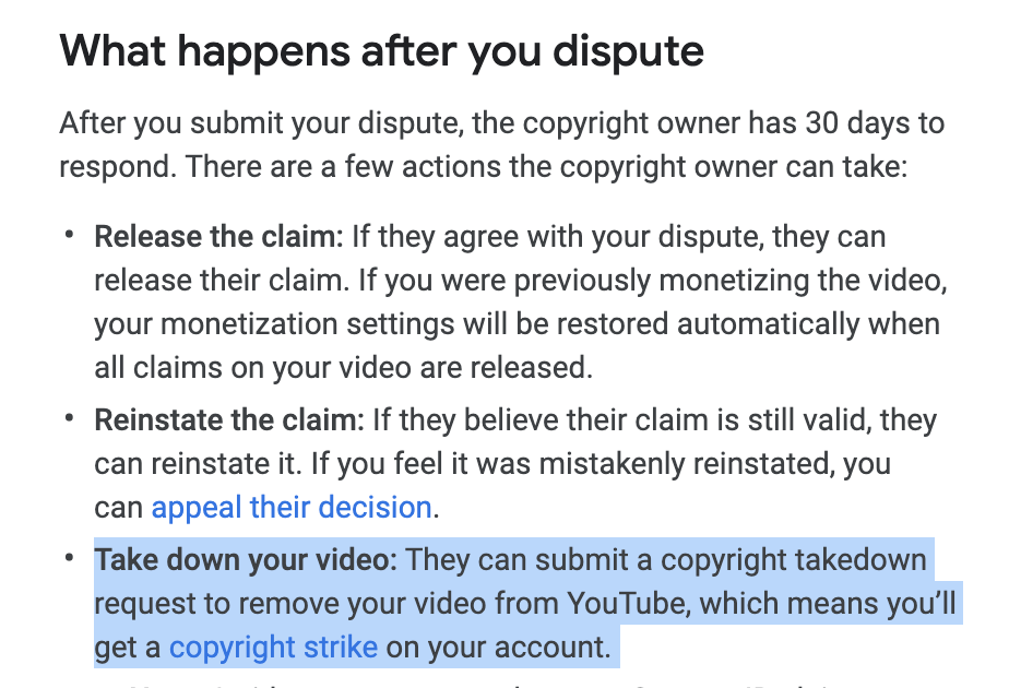YouTube Content ID Copyright Dispute